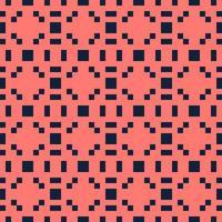 abstrakter roter und blauer Pixelquadrat strukturierter Hintergrund. nahtloses Vektormuster. vektor