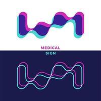 abstrakte chem, Atom, Molekülform. Laborchemie, Bio, Phisical, Biologie, futuristisches Logo. Tropfen DNA-Gene Analyse Klonen Illustrationen. vektor