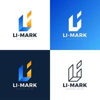 Webli Li abstrakte Linie Alphabet Buchstaben Kombination Vektor Logo Icon Design