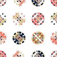kreativa digitala pixlar i cirkelformat sömlöst mönster. små rutor i rund form. vektor digital bakgrund designelement