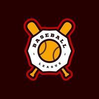 moderne Profisporttypografie des Baseballs im Retro-Stil. Vektor-Design Emblem, Abzeichen und sportliche Vorlage Logo-Design vektor