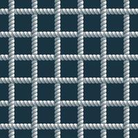 nahtloses Muster des Seils, trendiger Vektortapetenhintergrund. Schnur mit Knoten stilvolle endlose Illustration. verwendbar für Stoff. Tapete, Verpackung, Web und Druck vektor