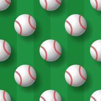 Baseball nahtlose Muster Tennisball Vektor Fliesen Hintergrund Tapete Schal isoliert Grafik