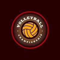 volleyboll vektor logotyp. modern professionell typografi sport retro stil vektor emblem och mall logotype design. volleyboll färgglada logotyp
