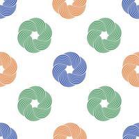 abstrakter Wirbel oder verdrehtes geometrisches nahtloses Muster. geometrischer einfacher Druck. Vektor, der Textur wiederholt. Hintergrundvektor.