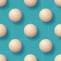 Volleyballball nahtlose Pettern Vektor-Illustration. realistisches nahtloses Musterdesign des Volleyballballs vektor