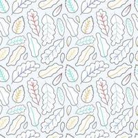linje konst lämnar sömlösa mönster bakgrund lager vektorillustration vektor