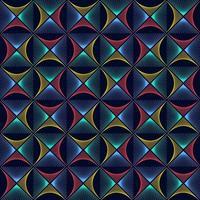 abstrakte bunte Rhombuswellenlinienhintergrundbeschaffenheit im geometrischen Zierstil. nahtloses Design vektor
