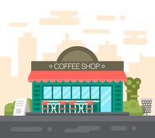 Flacher Kaffee-Shop