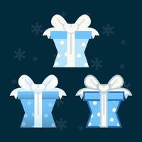 Satz flache Designelemente der Geschenkbox