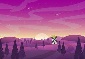 Vektor abstrakte purpurrote Landschaft