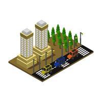 isometrisches Büro- und Firmengebäude vektor
