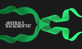 modern abstrakt bakgrund med vågiga linjer i gröna graderingar vektor