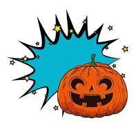Halloween Kürbis Pop Art Stil vektor