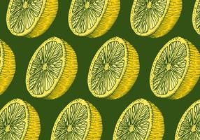 Retro-Zitronen-Muster vektor