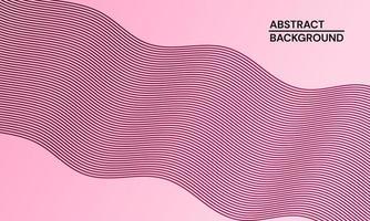 modern abstrakt bakgrund med rosa vågiga linjer vektor