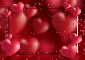 dekorativa alla hjärtans dag bakgrund