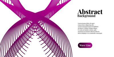 abstrakt bakgrund med dynamiska lila våglinjer vektor