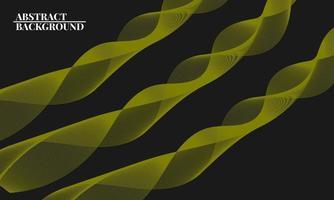 modern abstrakt bakgrund med vågiga linjer i gult vektor