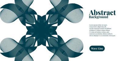 abstrakter Hintergrund mit geometrischen dynamischen dunkelblauen Wellenlinien vektor