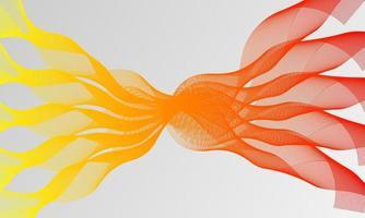 Vektor abstrakter Hintergrund mit dynamischen Wellen