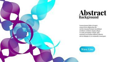 abstrakt bakgrund med dynamisk blå och lila lutning vektor