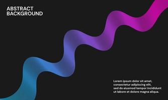 moderner abstrakter Hintergrund mit Wellenlinien in Blau und Purpur vektor