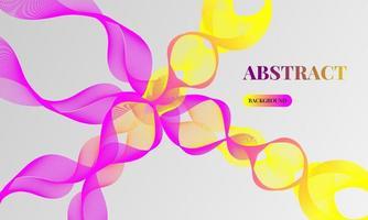 abstrakter Hintergrundvektor mit dynamischen Wellen vektor