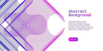 abstrakt bakgrund med dynamisk blått och lila vektor