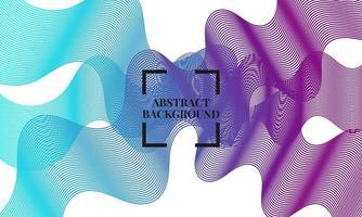 abstrakt bakgrundsvektor med dynamiska vågor vektor