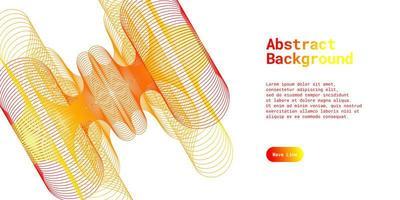 abstrakt bakgrund med dynamiskt rött och gult vektor