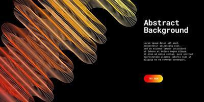 moderner abstrakter Hintergrund mit Wellenlinien vektor