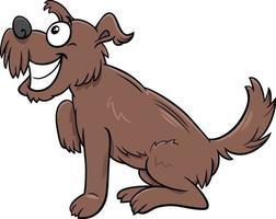 Cartoon braune zottelige Hund Comic Tierfigur vektor
