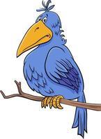tecknad fantasy blå fågel komisk karaktär vektor
