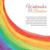 Akvarell regnbåge ram vektor