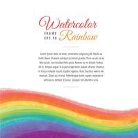 Aquarell-Regenbogen-Rahmen-Wellen-Vektor