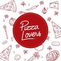 pizza älskare typografi vektor