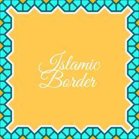 platt islamisk gränsvektor bakgrund