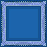 Islamische Grenze mit blauem Hintergrund Vektor
