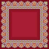 Islamische Grenze mit rotem Hintergrund Vektor