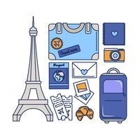 Vektor-Paris-Reise-Wesensmerkmale