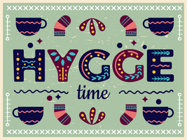 hygge time poster