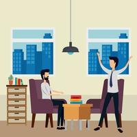 eleganta affärsmän arbetare på kontoret