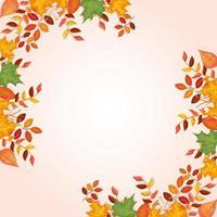 ram dekoration av löv hösten