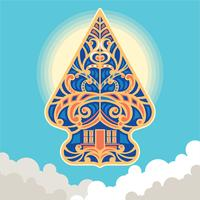 Vektorillustration Wayang Gunungan i Indonesien vektor