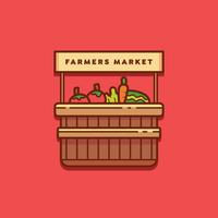 Bauernmarkt Logo Vector