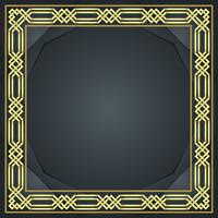 Gold islamischer Grenzvektor vektor