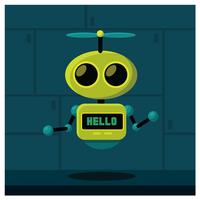 robot karaktärsdesign vektor