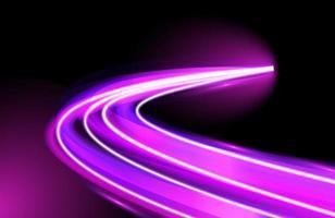 lila Neonlichtspuren Geschwindigkeit bdesign vektor