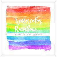Vektor vattenfärg regnbåge element
